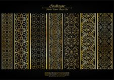 Arabesque element pattern boarder collection background vector Royalty Free Stock Photography