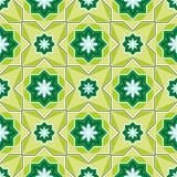 Arabesque em um fundo verde Imagem de Stock Royalty Free