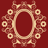 arabesque floral πλαίσιο ελεύθερη απεικόνιση δικαιώματος