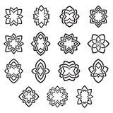 Arabesque floral abstract symbols vector. Stock Photo