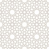 Arabesque Gray Pattern with white Background Stock Photography