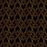 Arabesque islamic gold and black seamless pattern. Vector illustration for your arabic background design Stock Photography