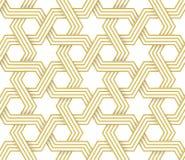 Arabesque Islamitisch Geometrisch Vectorpatroon royalty-vrije illustratie
