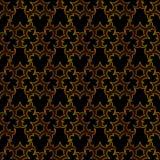 Arabesque Islamitisch gouden en zwart naadloos patroon vector illustratie