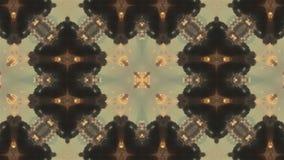 Arabesque 4K mandala Geometría antigua Círculos mágicos Explosión Salida del sol Caleidoscopio Ilusiones ópticas stock de ilustración