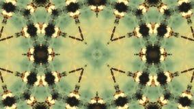 arabesque 4K mandala La géométrie antique Cercles magiques Explosion Lever de soleil Kaléidoscope Illusions optiques banque de vidéos