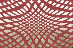 Arabesque. Made of the red lines Royalty Free Stock Photo