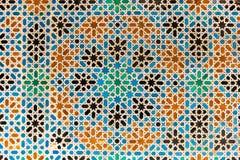 Arabesque met patronen van Granada, Spanje royalty-vrije stock afbeeldingen