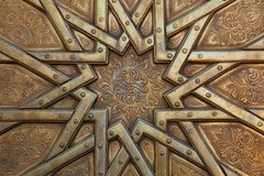 Arabesque On Door In Morocco Stock Images