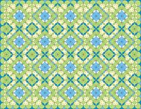 Arabesque Pattern Background. Illustration in greens and blues Stock Image