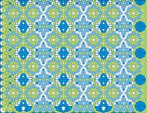 Arabesque Pattern Background. Illustration in greens and blues Royalty Free Stock Photo