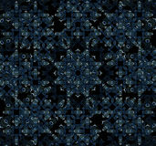 Arabesque Pattern Background. In blue and black tones Stock Image