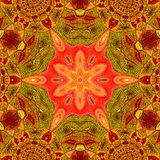 Arabesque pattern with detailed ornament in fire red and orange. Arabesque with detailed ornament in fire red and orange Stock Images