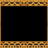 Arabesque Pattern Frame Background Stock Photography