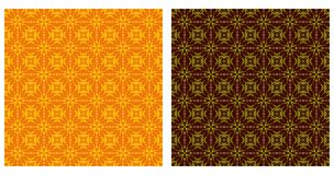 Arabesque patterns seamless. Two colorful geometric patterns seamless. Arabesque style Stock Photography