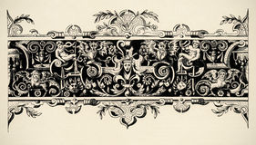 Arabesque, renaissance . Engraving of 16 century. Royalty Free Stock Photography