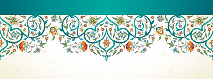 Arabesque seamless border in Eastern style. Stock Images