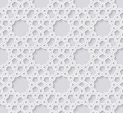 Arabesque seamless pattern on bright background Stock Images