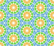 Arabesque seamless pattern in editable vector file Stock Photography