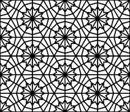 Arabesque seamless pattern in editable vector file Royalty Free Stock Images