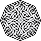 Arabesque seamless pattern. Islamic style, Grayscale stock illustration