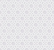 Arabesque seamless pattern with stars Royalty Free Stock Photo