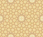 Arabesque Star Ornament Brown background. Vector Illustration Stock Photo