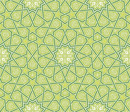 Arabesque Star Ornament Green Background Royalty Free Stock Photography