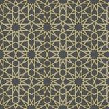 Arabesque Star Pattern. On gray background royalty free illustration