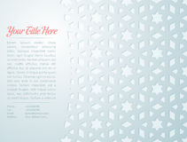 Arabesque Star Pattern Card Royalty Free Stock Photography