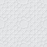 Arabesque Star Pattern with Grunge Light Grey Background, Traditional Design Stock Images