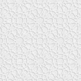Arabesque Star Pattern with Grunge Light Grey Background, Vector Stock Photography