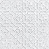 Arabesque Star Pattern with Grunge Light Grey Background Royalty Free Stock Photography