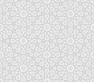 Arabesque Star Pattern, Light Grey Background Stock Image