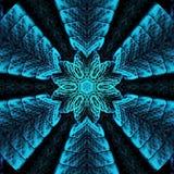 Mandala in arabesque style in neon blue. Tattoo, spiritual yoga. Arabesque style in neon blue. Tattoo, spiritual yoga stock illustration