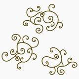 Arabesque Swirl Pattern. Editable Arabesque Swirl Vector Pattern Royalty Free Stock Images