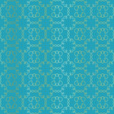 Arabesque vignettes seamless pattern. Turquoise Stock Photos