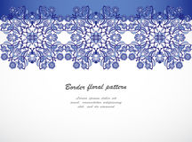 Arabesque vintage seamless border floral decoration print design. Template vector. Eastern style pattern. Ornamental illustration invitation, greeting card Royalty Free Stock Image