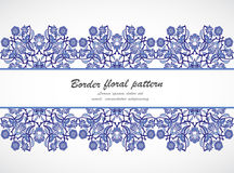 Arabesque vintage seamless border floral decoration print design. Template vector. Eastern style pattern. Ornamental illustration invitation, greeting card Royalty Free Stock Photography