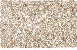 Arabesque white brown waves lines curves background pattern Royalty Free Stock Photo