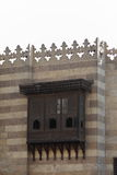 Arabesque window. Ancient islamic building in old cairo with Arabesque window Royalty Free Stock Photography