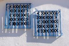 Arabesque windows. Close up view of two arabesque windows Stock Photos