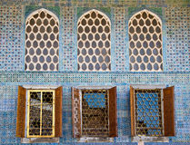 Arabesque Windows of the Topkapi palace Stock Image