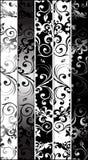 arabesques greyscale κατακόρυφος Στοκ Εικόνες