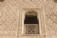 Arabesques relief in Morocco Stock Photography