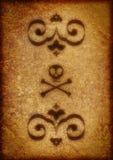 arabesquesbakgrundsskalle arkivfoton