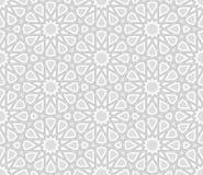 Arabesquestjärnamodell, ljusa Grey Background royaltyfri illustrationer