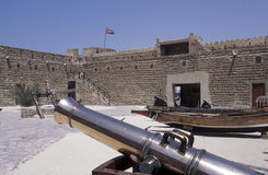 ARABIA EMIRATES DUBAI. The Al Fahidi Fort in the old town in the city of Dubai in the Arab Emirates in the Gulf of Arabia Royalty Free Stock Photography