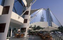 ARABIA EMIRATES DUBAI. The Jumeira Beach Hotel in the city of Dubai in the Arab Emirates in the Gulf of Arabia Stock Photography