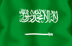 arabia flaggasaudier Royaltyfria Bilder
